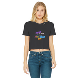 I'm Just a Dad On The Internet Having A Great Time Classic Women's Cropped Raw Edge T-Shirt