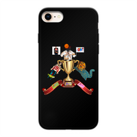 Lago Boys Coat of Arms Back Printed Black Soft Phone Case