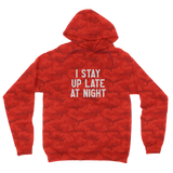 I Stay Up Late At Night Camouflage Adult Hoodie