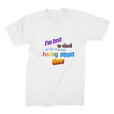 I'm Just a Dad On The Internet Having A Great Time Premium Jersey Men's T-Shirt