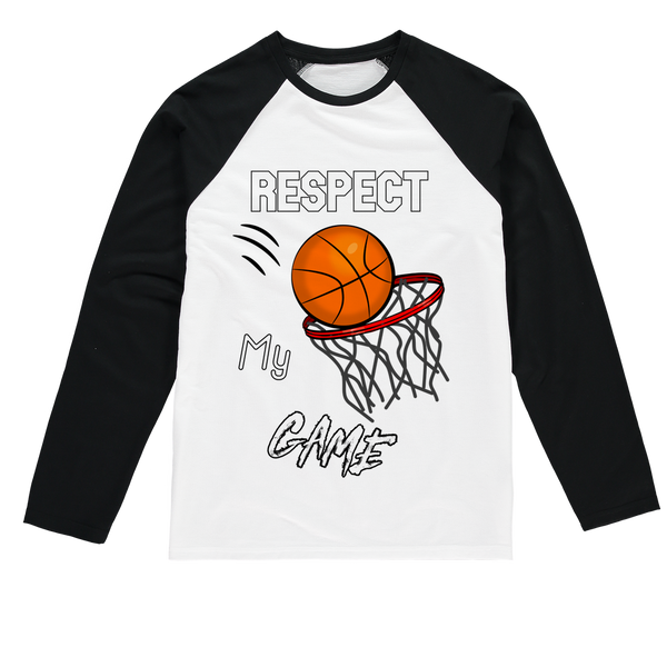 Respect My Game Sublimation Baseball Long Sleeve T-Shirt