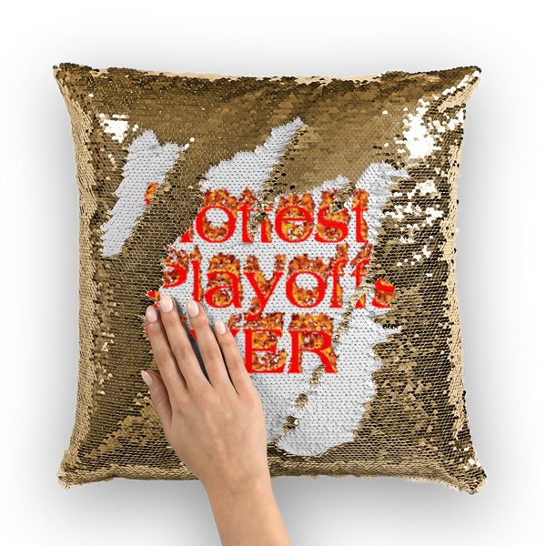 Hottest Playoffs Ever Sequin Cushion Cover