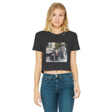 Bike Life in the Year 2020 Classic Women's Cropped Raw Edge T-Shirt