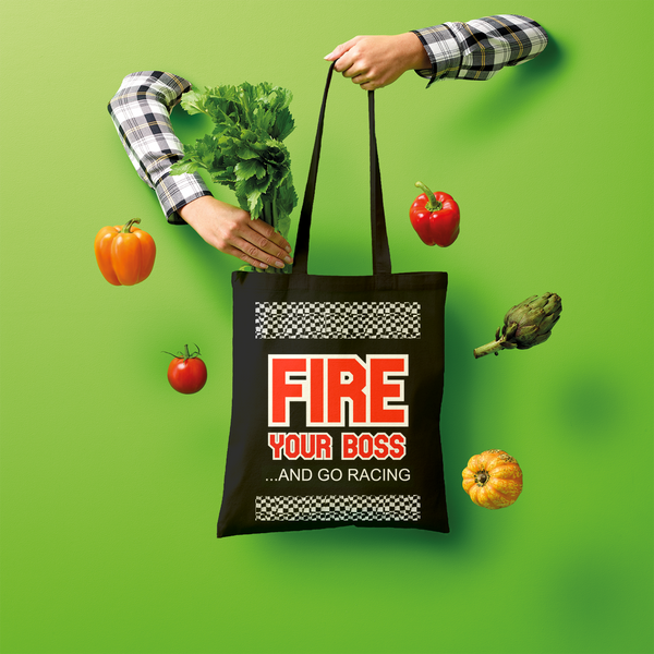 Fire Your Boss And Go Racing Shopper Tote Bag