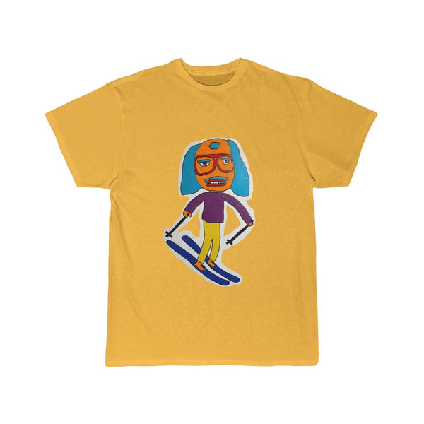 A Very Tall Skier Men's Short Sleeve Tee BRIGHT COLORS
