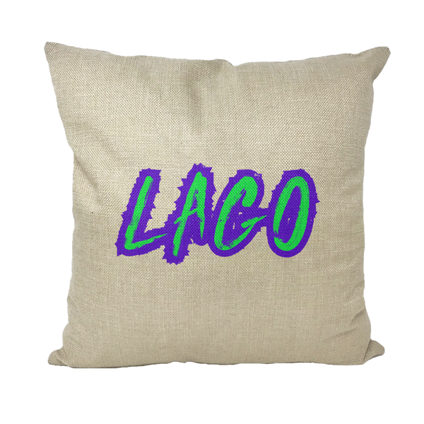 ELECTRIC NEON LAGO Throw Pillows