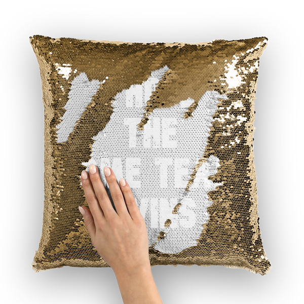 I Hope The Home Team Wins Sequin Cushion Cover