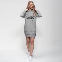 LAGO BLACK Premium Adult Hoodie Dress