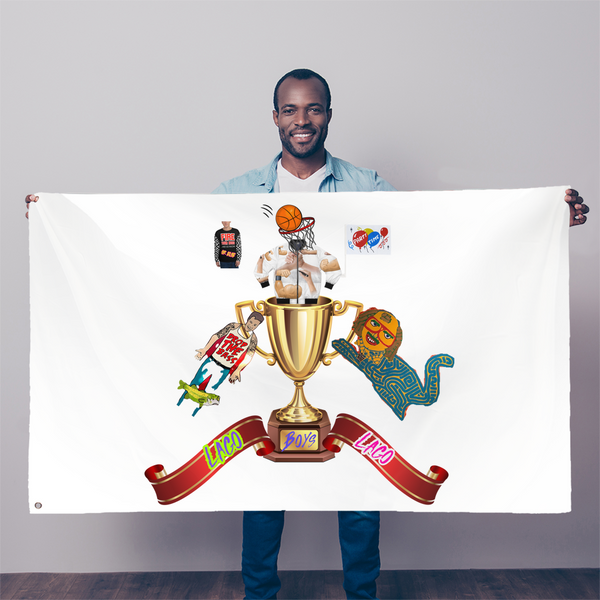 Lago Boys Coat of Arms Sublimation Flag