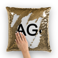 LAGO BLACK Sequin Cushion Cover