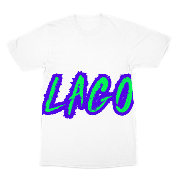 ELECTRIC NEON LAGO Premium Sublimation Adult T-Shirt