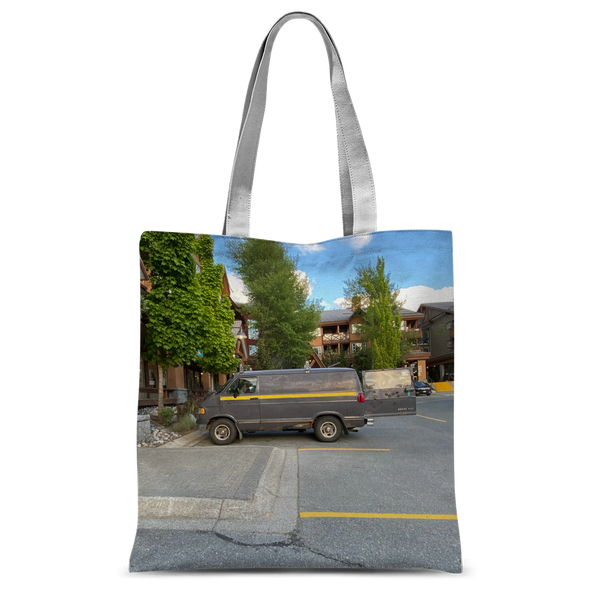 Camouflaged Van In Its Natural Setting Classic Sublimation Tote Bag