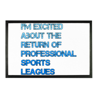 I'm Excited About The Return of Professional Sports Leagues Sublimation Doormat