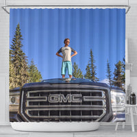A Man And His Truck Shower Curtain