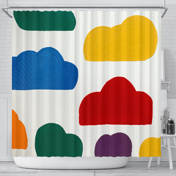 Colorful Clouds Shower Curtain