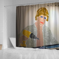 Chaad The Drill Man Shower Curtain
