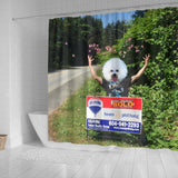 Fire Up The Blimp It's Another Team Haig Sales Celebration Bichon Frise Shower Curtain