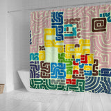 The Simpsons Squiggle Shower Curtain