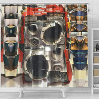 Jerry Can Boombox Shower Curtain