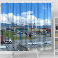 The Port And The Sky Shower Curtain