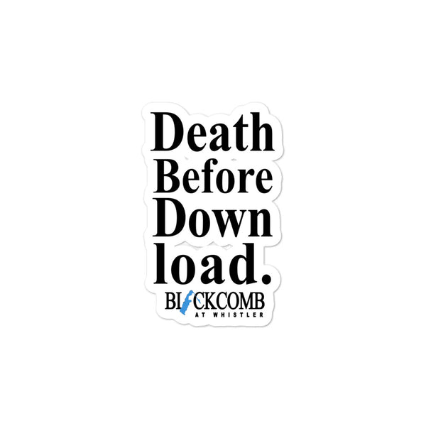 Death Before Download, Blackcomb, Retro Whistler, Sticker, Decal, Ski Sticker, Whistler Gift, Skiing Sticker, Bubble-free stickers