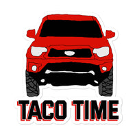 Toyota Tacoma, Toyota Sticker, Tacoma Sticker, Decal, Taco Time Red Truck 4wd Overlanding Overland TRD Sport Bubble-free stickers