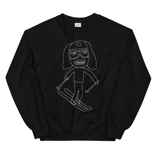 A Very Tall Skier Wireframe Unisex Sweatshirt