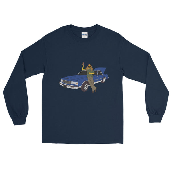 A Man And His Blue Caprice Men's Long Sleeve Shirt