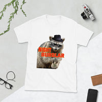 Night Burglar Raccoon Thief Getting Away With Crime And Loving It!  T-Shirt
