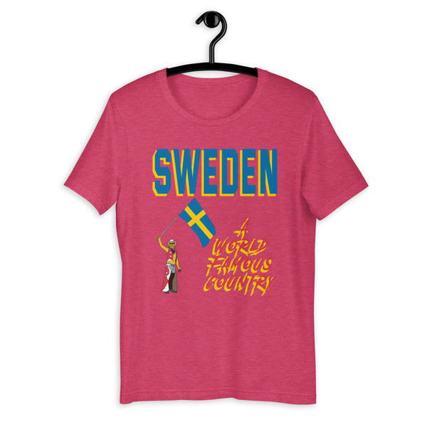 Sweden A World Famous Country Short-Sleeve Unisex T-Shirt
