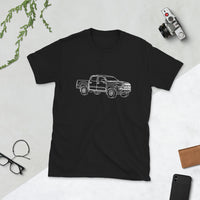 Wireframe Generic Offroad Pickup Truck Vehicle Short-Sleeve Unisex T-Shirt
