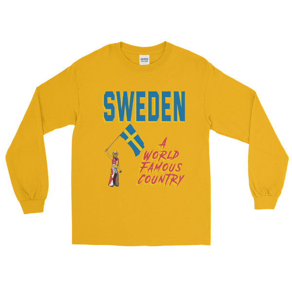 Sweden A World Famous Country Men's Long Sleeve Shirt