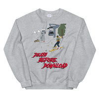 Malone in Death Before Download at Blackcomb Unisex Sweatshirt