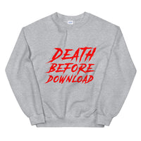 Death Before Download Whistler Ski Blackcomb Canada Skiing Unisex Sweatshirt