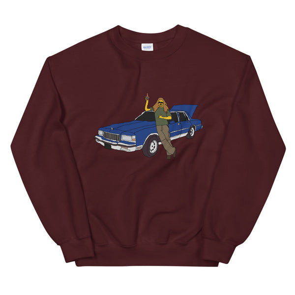 A Man And His Blue Caprice Unisex Sweatshirt