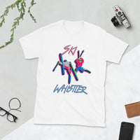 Ski Whistler Double Daffy neon print Short-Sleeve Unisex T-Shirt
