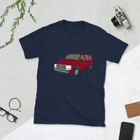 Burgundy Dodge Caravan Ghind Short-Sleeve Unisex T-Shirt