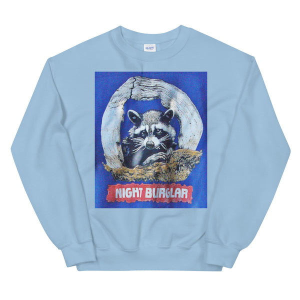 Two Shades of Blue Night Burglar Unisex Sweatshirt
