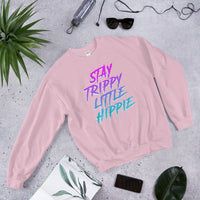 Stay Trippy Little Hippie Crewneck Sweatshirt  | Hippie Clothes | Hippie Clothing | Unisex  Crewneck Sweatshirt