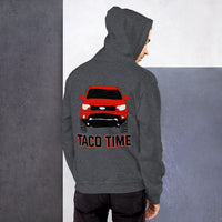 Toyota Tacoma Taco Time Red Truck 4wd Overlanding Overland TRD Sport, hooded sweatshirt, Unisex Hoodie