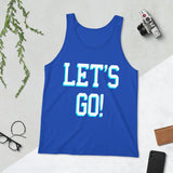 Let's Go, College Gift, Student Gift, College Tank top, College shirt, Party Shirt, Birthday gift, Unisex Tank Top