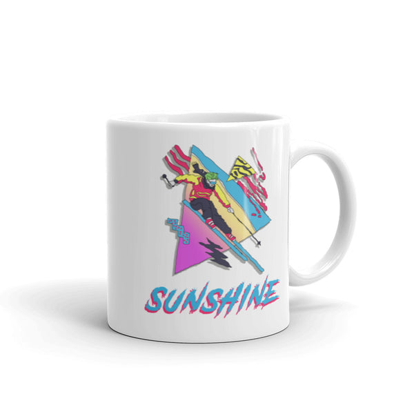 Skiing Mug, Ski Sunshine, Skier Gift, Vintage Shirt, Sunshine Village, Banff, Banff Gift, Coffee Mug, Mug for Skiers