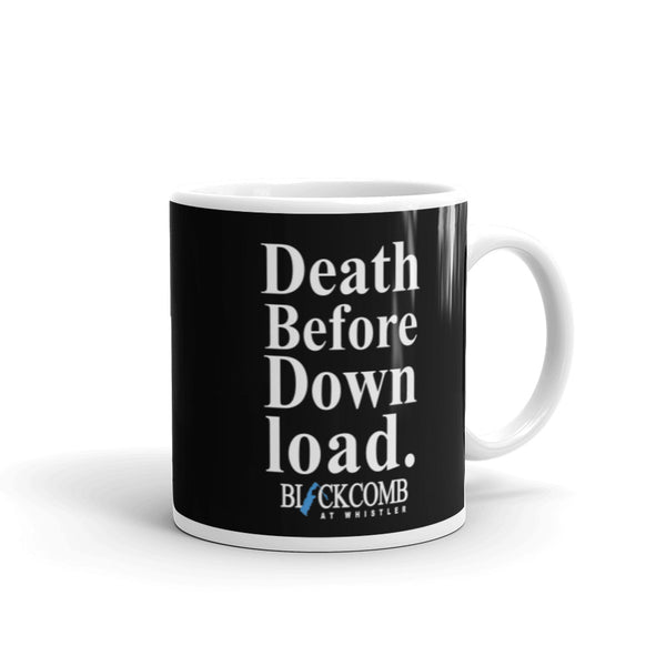 Death Before Download, Blackcomb, Retro Whistler, Vintage Style Mug, Ski Mug, Ski Shirt, Whistler Gift, Skiing Gift, Coffee Mug