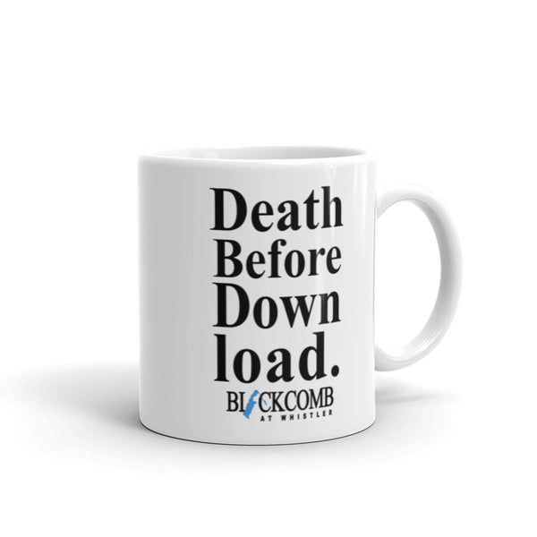 Death Before Download, Blackcomb, Retro Whistler, Ski Mug, Skiing Mug Whistler Gift, Souvenir Coffee Mug