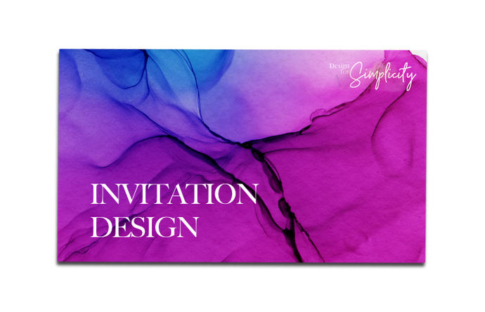 COMING SOON: Invitation Design