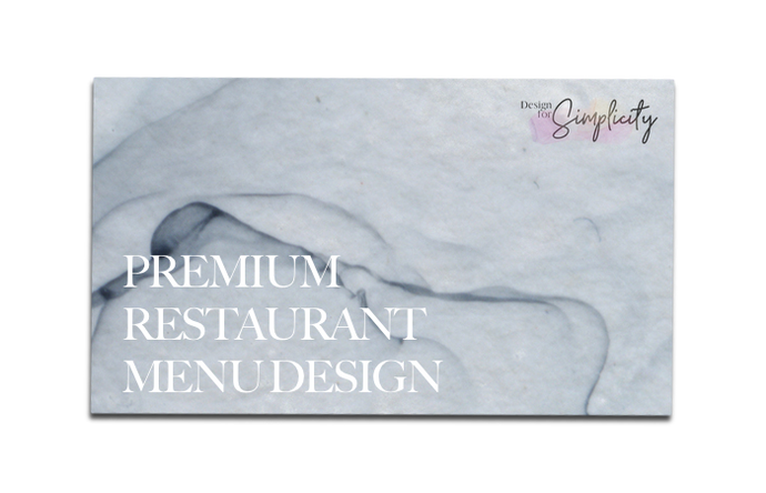 Premium Restaurant Menu Design