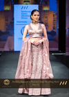 Pastel Onion Pink Net Lehenga with Net Dupatta at Oorvi Desai London