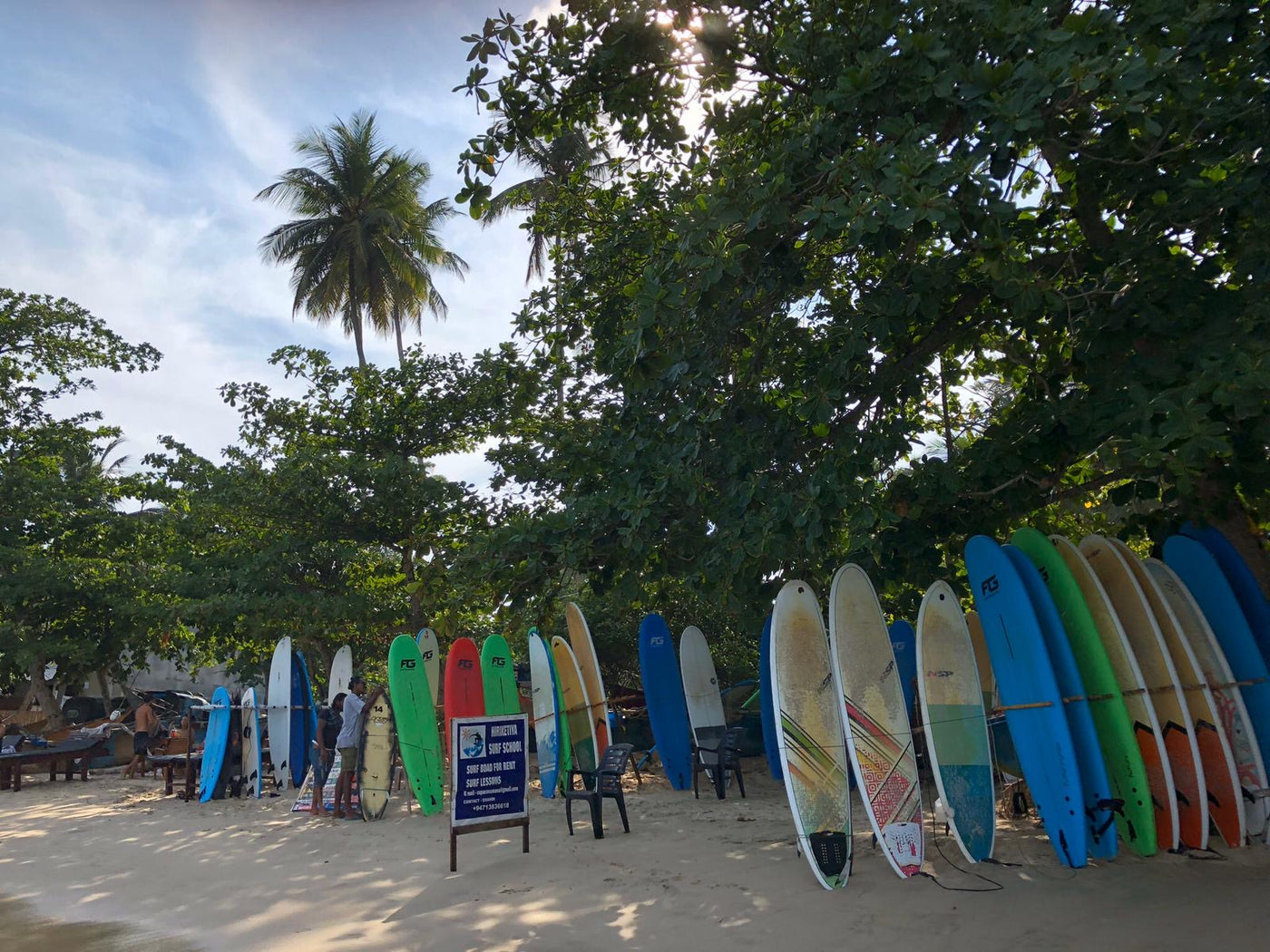 Surf boards on trip to Sri-Lanka