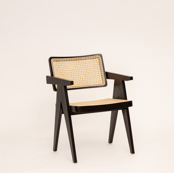 Cane_Rattan_Dining_Chair_With_Arms_Black