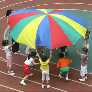 Boys Girls Outdoor Game  Rainbow Color Parachute